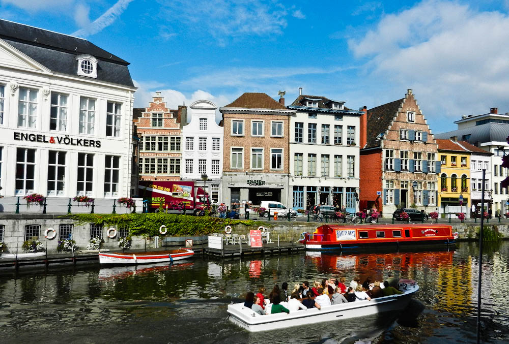 Best Cities to Visit Ghent Belgium Map Of City Overshadowed by