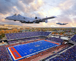 A-10's Flying over Bronco Stadium